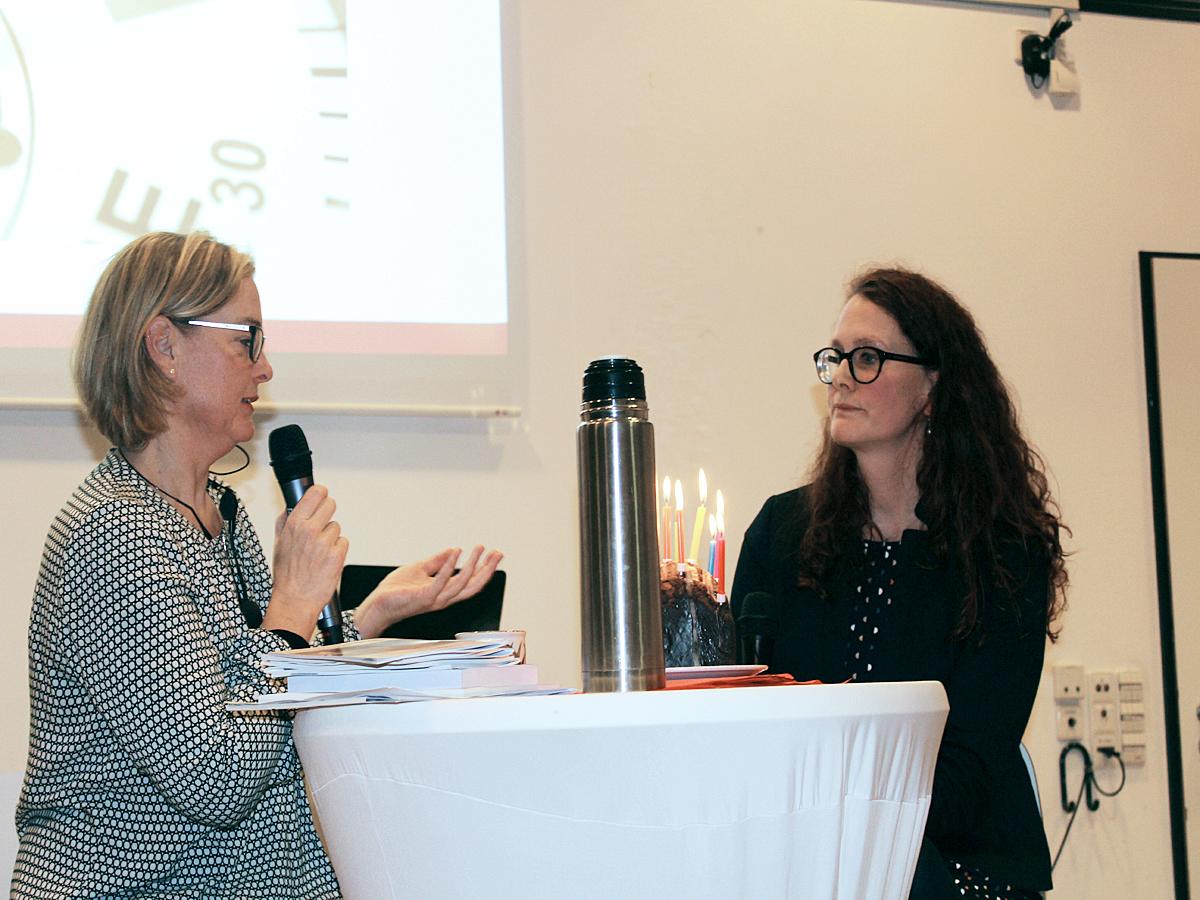 Marija Bakker und Dr. Kathrin Ruhl blicken zurück