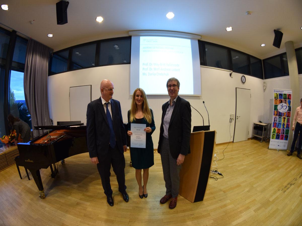 Willkommensfeier für internationale Studierende und Verleihung des DAAD-Preises 2017