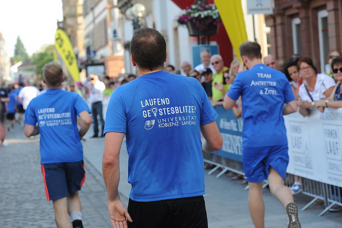 Uni-Läufer im Ziel