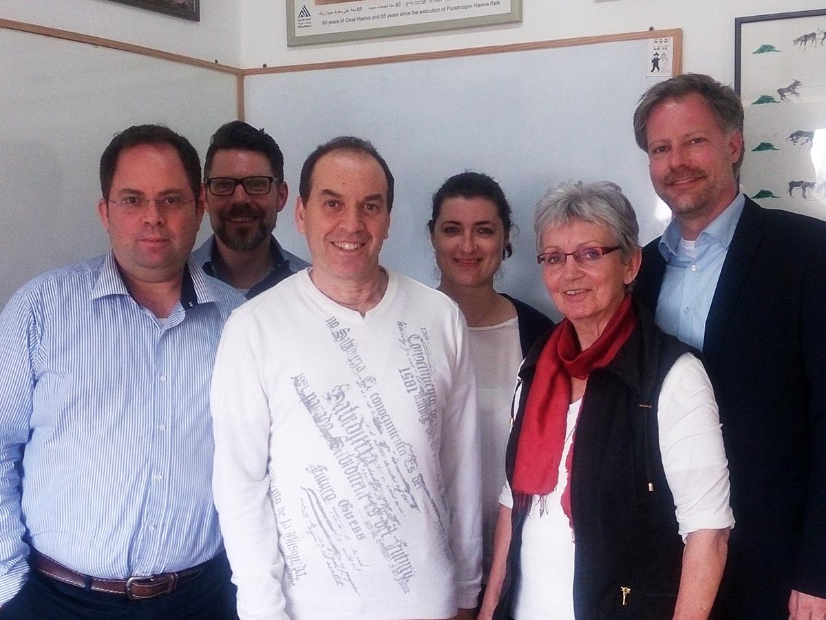 Vertreter von Givat Haviva und Friedensakademie Rheinland-Pfalz
