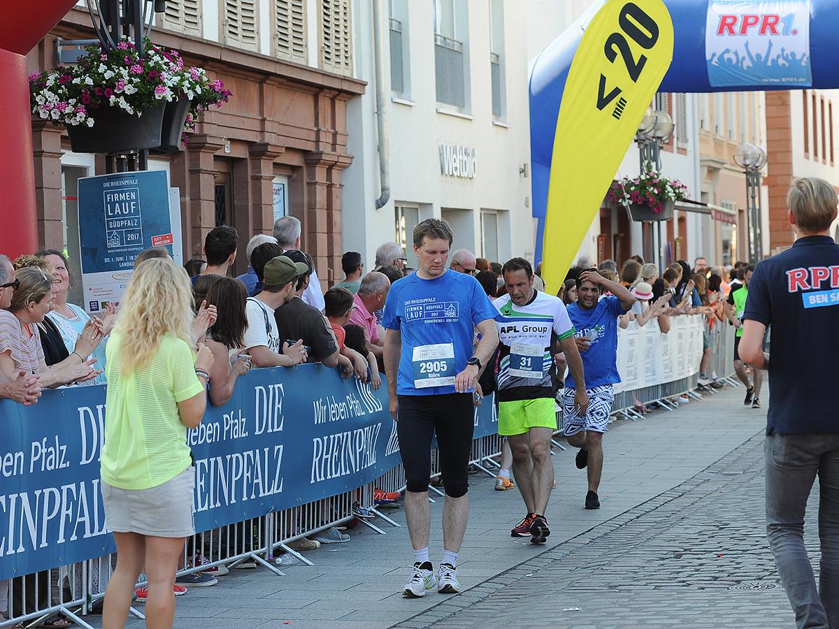 4. Läufer im Ziel
