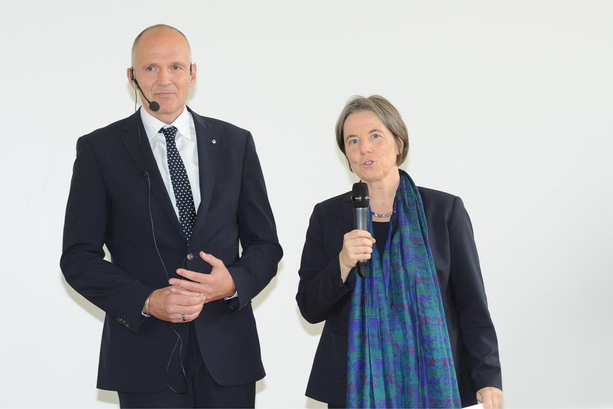 Übergabe des Präsidentenamtes: Vizepräsidenten Prof. Dr. Schaumann und Prof. Dr. von Korflesch