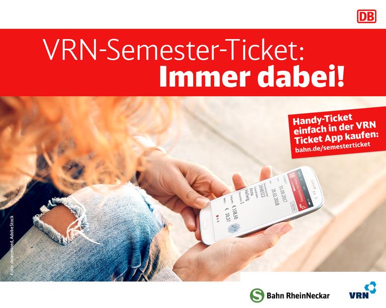 VRN-Semester-Ticket jetzt auch als Online-Ticket in der App