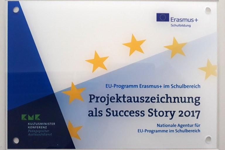 """Erasmus + """"Success Story 2017"""":  Projekt der Landauer Wirtschaftswissenschaften ausgezeichnet"""