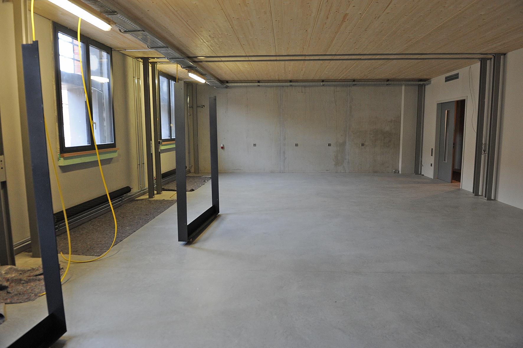 Die neuen Werkstätten im Erdgeschoss der Reithalle. Foto: Karin Hiller