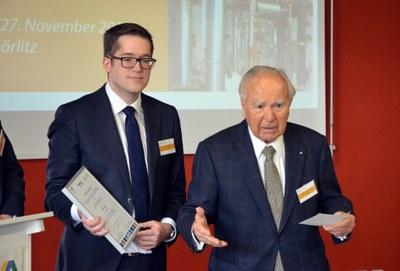 Bertil Kapff und Dr. Hans-Wolfgang Tyczka, Unternehmensgründer und Stifter. Bild: Frederick Tyczka-Christoph