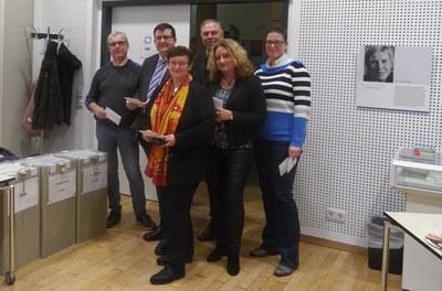 Gemeinsam Weichen stellen (v.l.n.r.): Prof. Dr. Wolfgang Imhof, Prof. Dr. Stefan Wehner, Prof. Dr. Maria A. Wimmer, Prof. Dr. Stefan Neuhaus, Prof. Dr. Claudia Quaiser-Pohl, Prof. Dr. Constanze Juchem-Grundmann