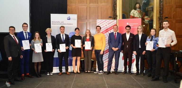 27. Koblenzer Hochschulpreis durch Wirtschafts- und Wissenschaftsallianz Koblenz verliehen