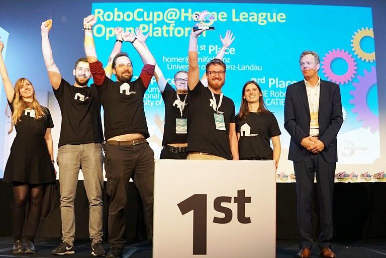 Roboter-Team homer ist Rekordweltmeister