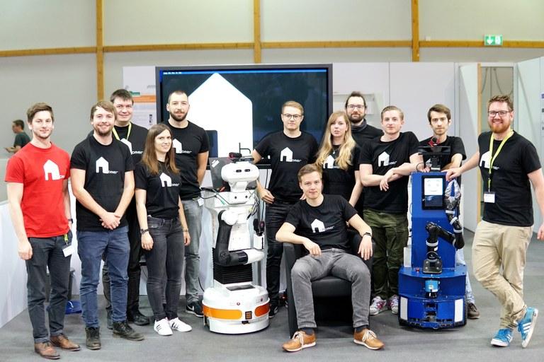 Serviceroboter bei deutscher Meisterschaft drittplaziert