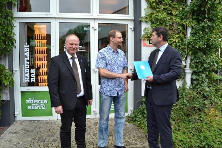Ausgezeichnet: Marcus Opdenberg erhielt Förderpreis des VDI Mittelrhein