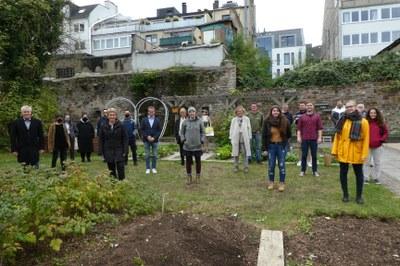Starkes Engagement für die Erhaltung des Gartens Herlet. Bild: Universität Koblenz-Landau