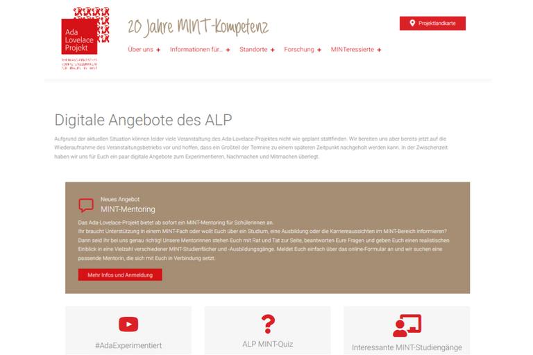 Neues digitales Mentoring-Angebot des Ada-Lovelace-Projekts