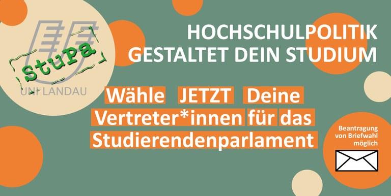 StuPa-Wahlen 2020 am Campus Landau: Per Briefwahl ins Studierendenparlament
