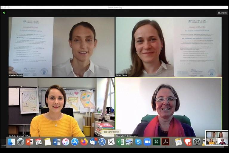 Universitätspreis für digital gestützte Lehre für Gisela Gerlach und Xenia Görtz