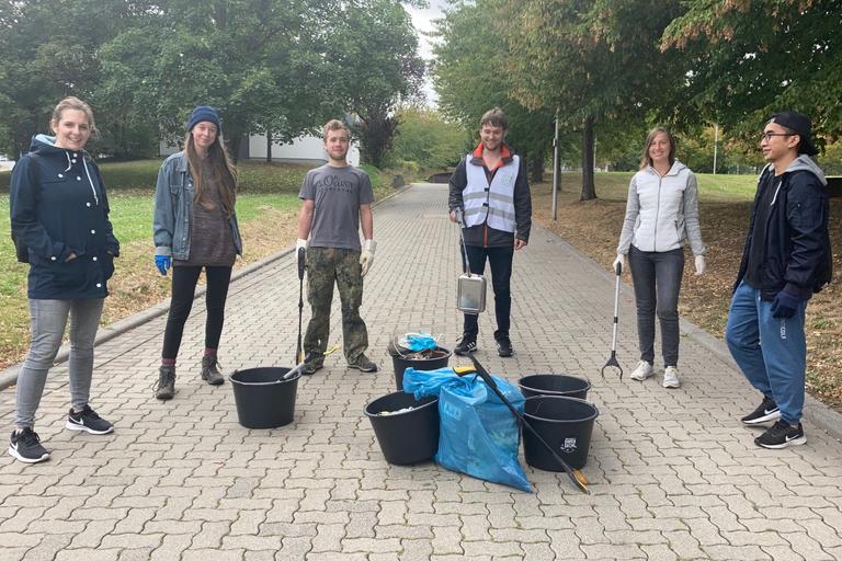 Erster Dreck-weg-Nachmittag an der Universität in Koblenz erfolgreich