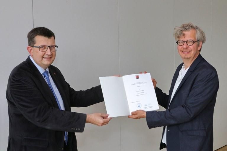 PD Dr. Stefan Meier zum außerplanmäßigen Professor ernannt
