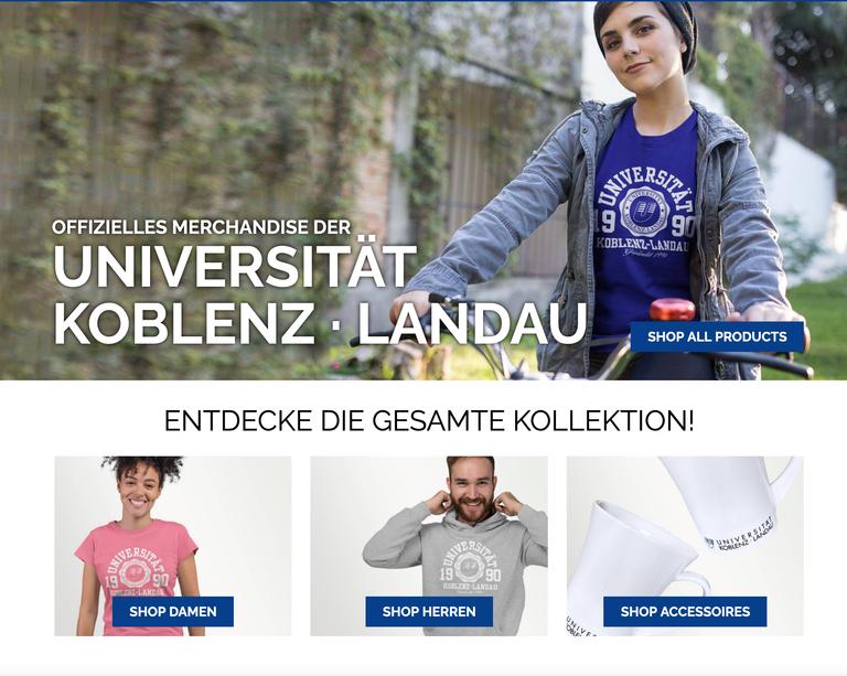 Unishop der Universität Koblenz-Landau jetzt auch online