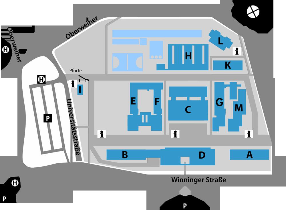 Lageplan Campus Koblenz