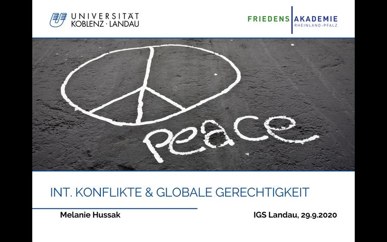 Die Friedensakademie zu Gast bei der IGS Landau
