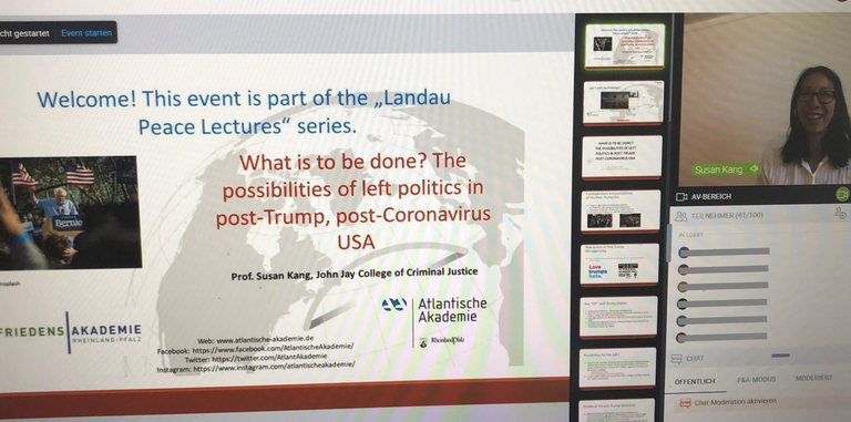 Landau Peace Lecture: What is to be done? The possibilities of left politics in post-Trump, post-Coronavirus USA