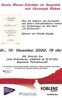 Lesung Christoph Ribbat Im Restaurant Gespräch Nicole Maruo-Schröder