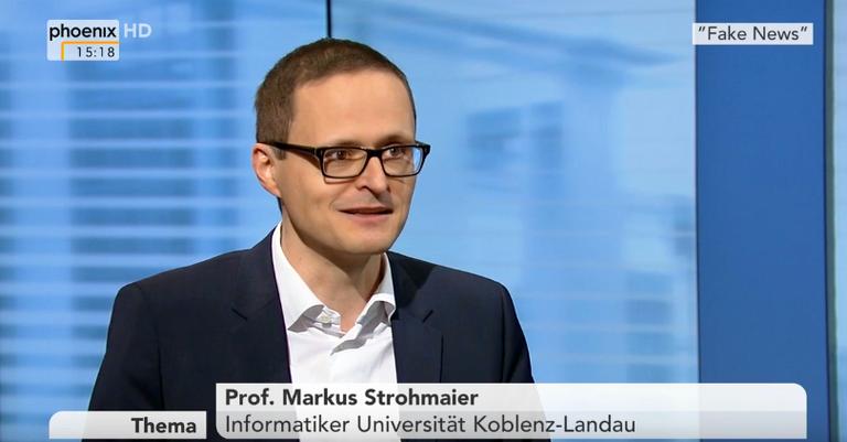 Fake News in der Politik: Phoenix im Interview mit Markus Strohmaier vom Fachbereich Informatik der Universität Koblenz-Landau