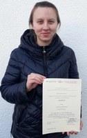 Verleihung Urkunde Julia Monath geb. Eichhorn