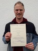 Verleihung Urkunde Christian Adam