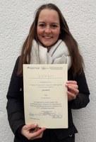 Verleihung Urkunde Kristin Braun
