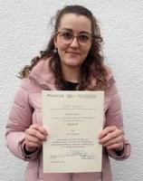 Verleihung Urkunde Julia Gradwohl