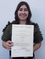 Verleihung Urkunde Céline Horn