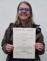 Verleihung Urkunde Nathalie Hust