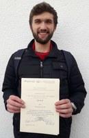 Verleihung Urkunde Sebastian Schulte