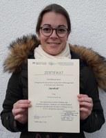 Verleihung Urkunde Christina Suntrup