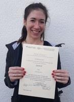 Verleihung Urkunde Julia Willems