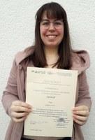 Verleihung Urkunde Kathrin Kühn