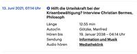 Interview Urteilskraft