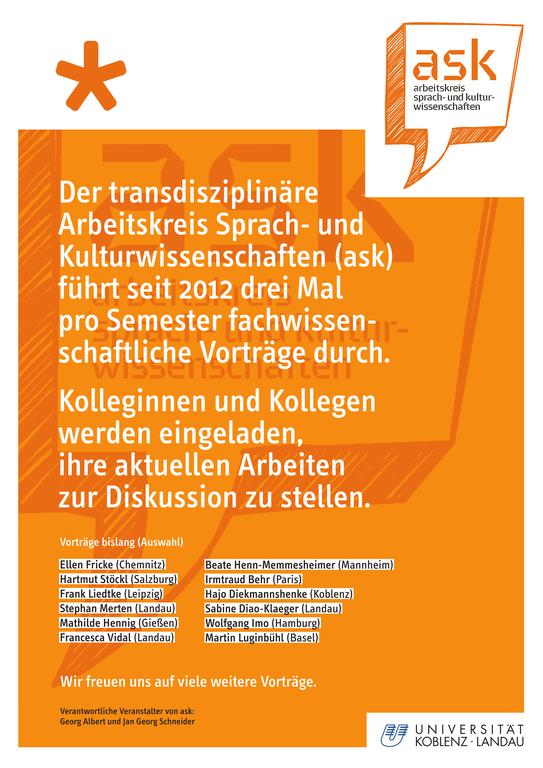 Arbeitskreis Sprach- und Kulturwissenschaften (ask)