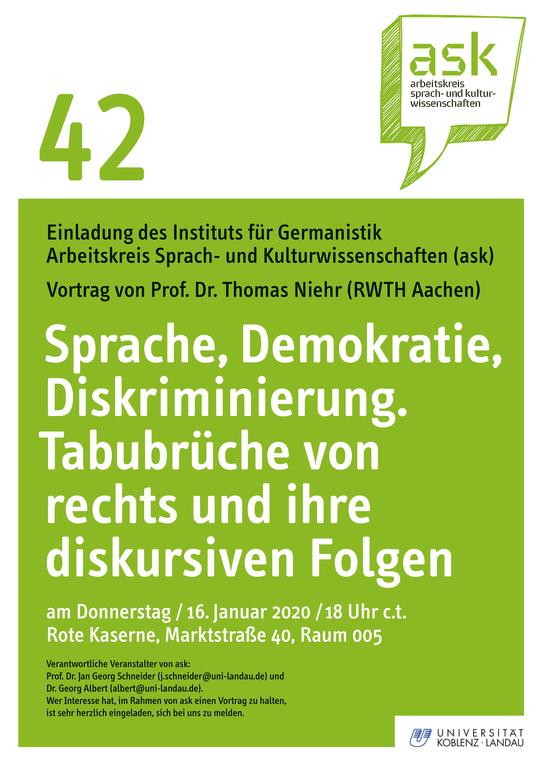 ask-Vortrag von Prof. Dr. Thomas Niehr