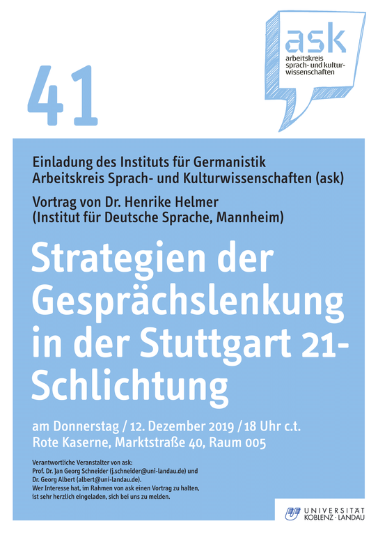 Ask-Vortrag von Dr. Henrike Helmer