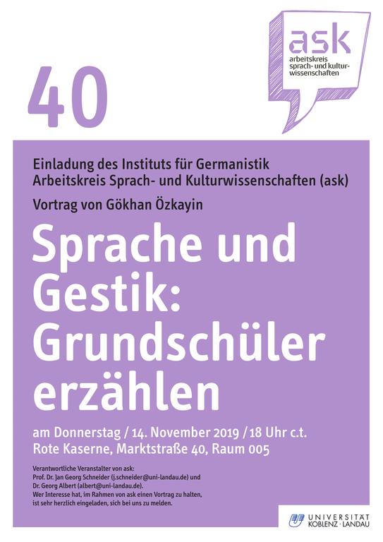 ask-Vortrag von Gökhan Özkayin