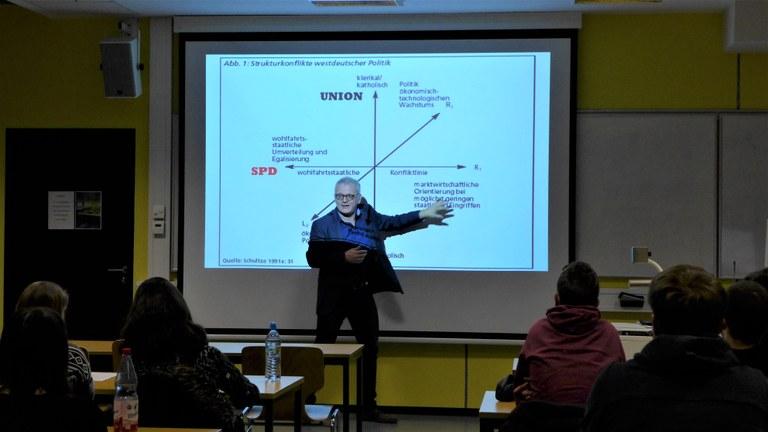 Das Wahljahr 2019 in Deutschland – Ende des bisherigen Parteiensystems? Gastvortrag von Prof. Dr. Ulrich Eith