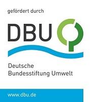"""DBU-Logo """"Förderung durch"""" für Startseite Projekte"""