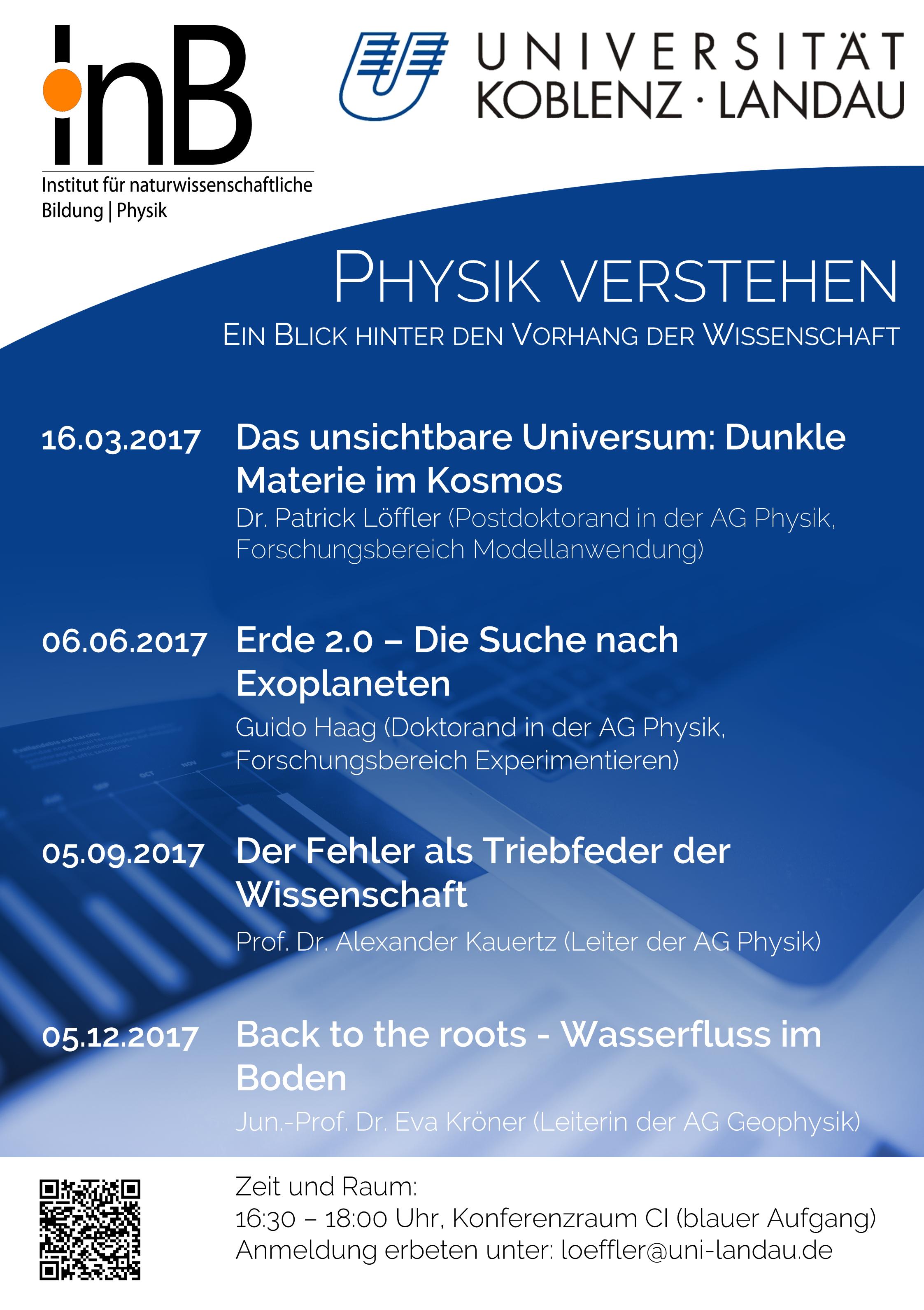 Ringvorlesung Physik verstehen Plakat
