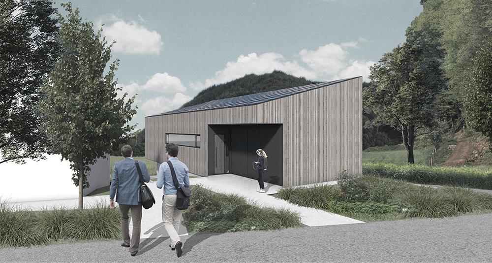Außenansicht des geplanten ecoLABs (Marc Betz Architekten)