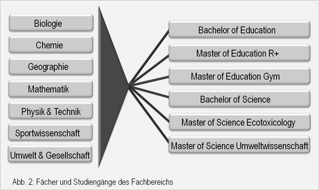 Abb 2: Fächer und Studiengänge