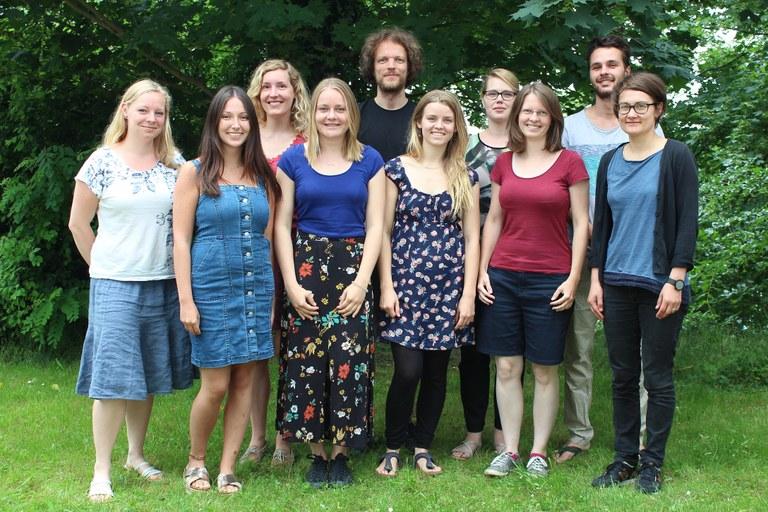 Hier sieht man die Arbeitsgruppe Umweltpsychologie von Prof. Dr. Gerhard Reese.