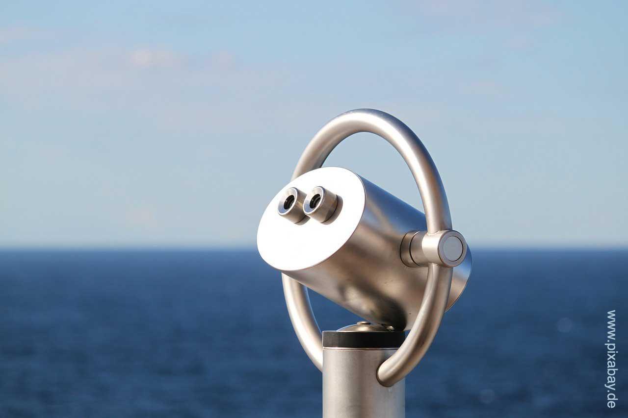 Hier sehen Sie ein Teleskop symbolisch für Perspektiven nach dem Studium.