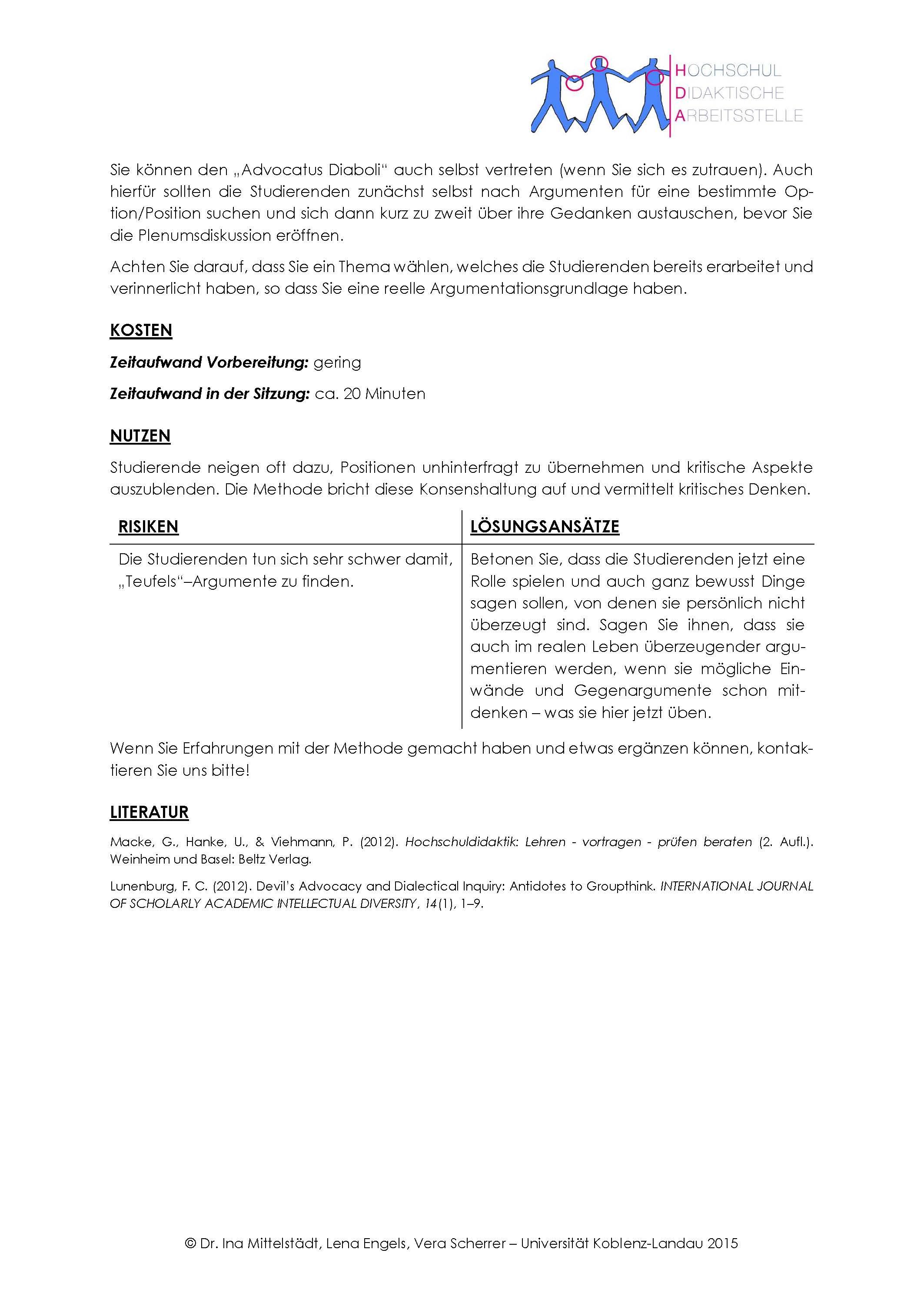 Advocatus Diaboli Seite 2